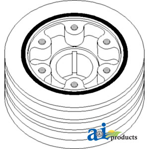 A-74037126 PULLEY CRANKSHAFT